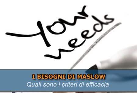 Bisogni di Maslow