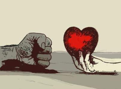 pugno e cuore